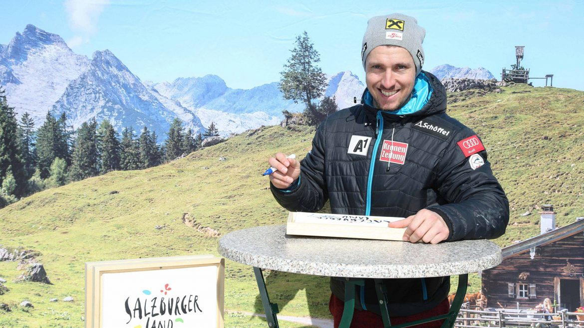 Marcel Hirscher at home on the Stuhlalm
