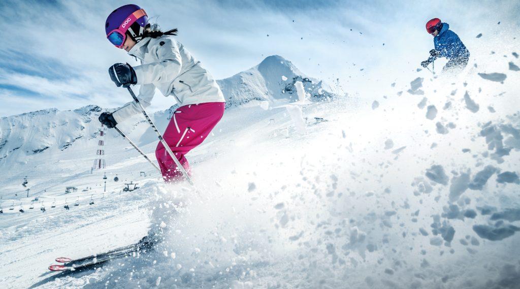 Skiing at the Kitzsteinhorn glacier