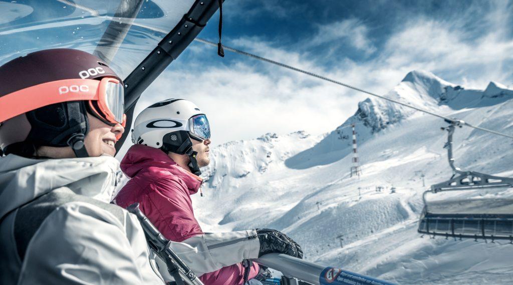 Skier at Gletscherjet3 on Kitzsteinhorn.