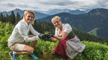 Alexandra at the Buergl-Alm with Gabi Buergler