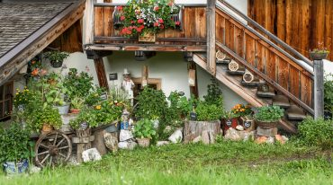 The herb garden at the Buergl-Alm