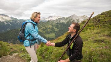 Alexandra meets Wolfgang Kocher at the Twenger Alm
