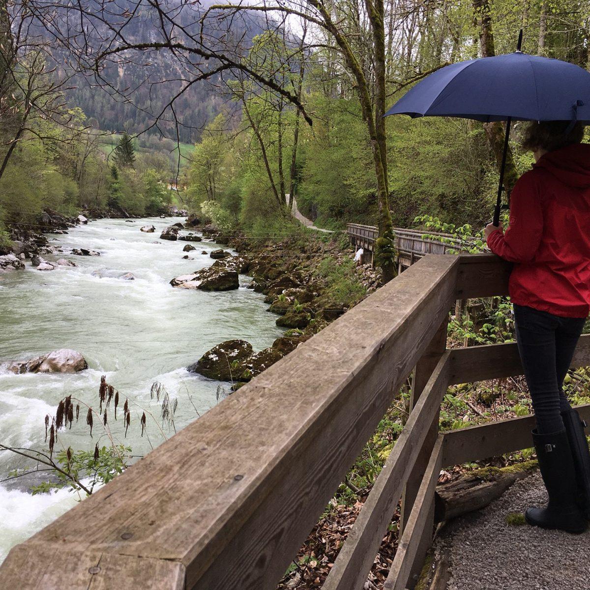 Hiking in the rain along the Saalach river » SalzburgerLand com