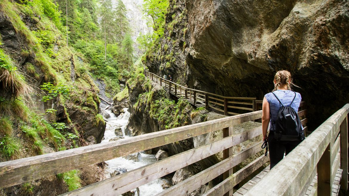 Angie at the Kitzloch Gorge