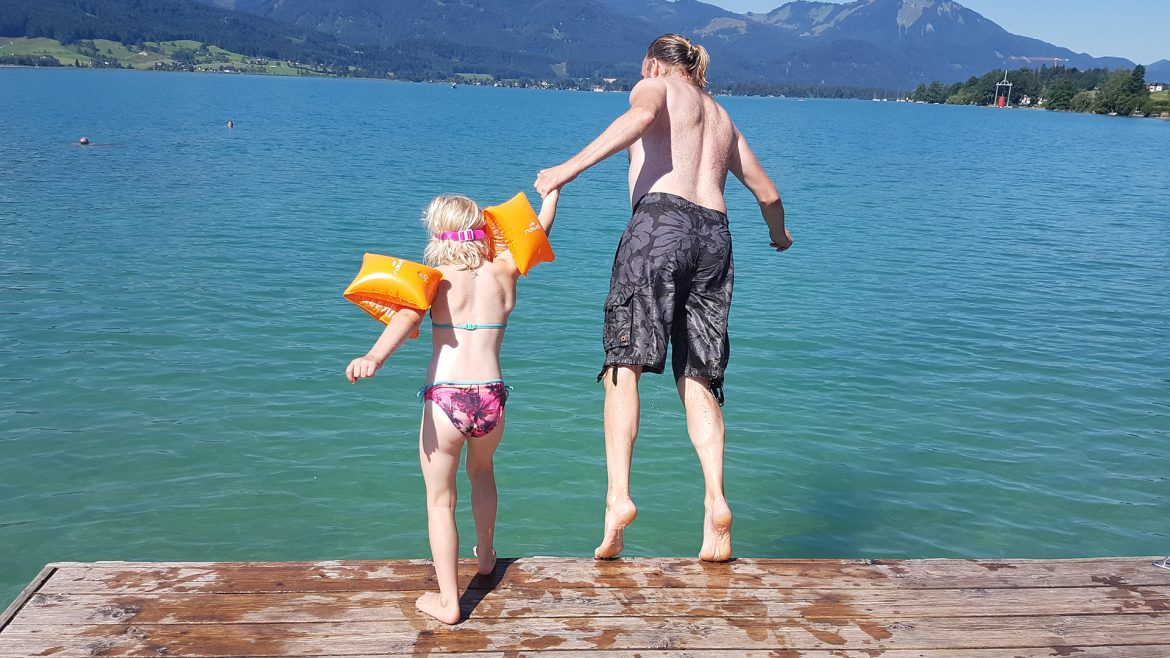 Swimming in Wolfgangsee