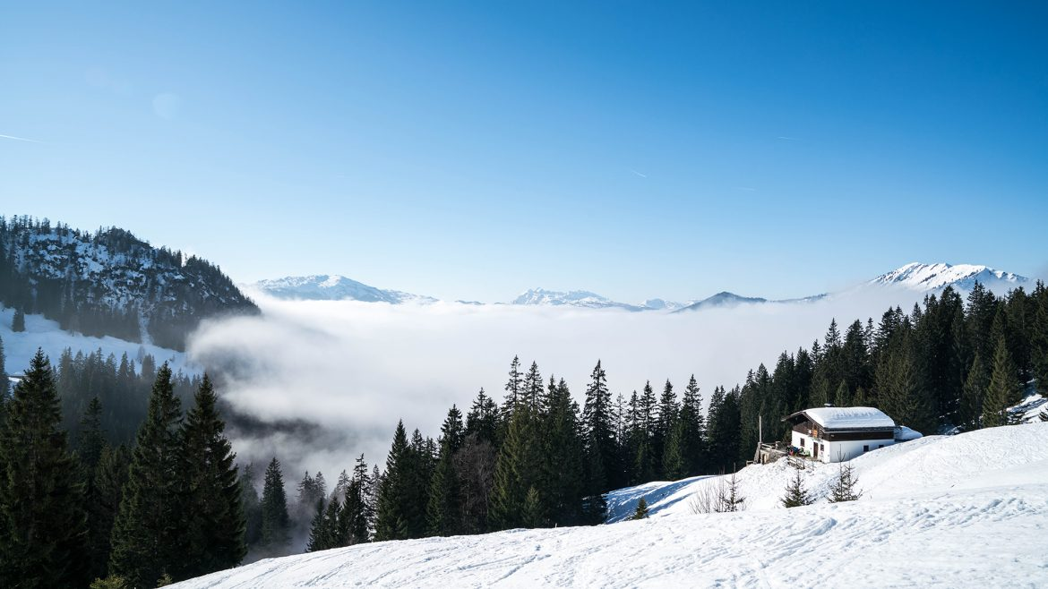 Snow panorama at Lofer Mountain World