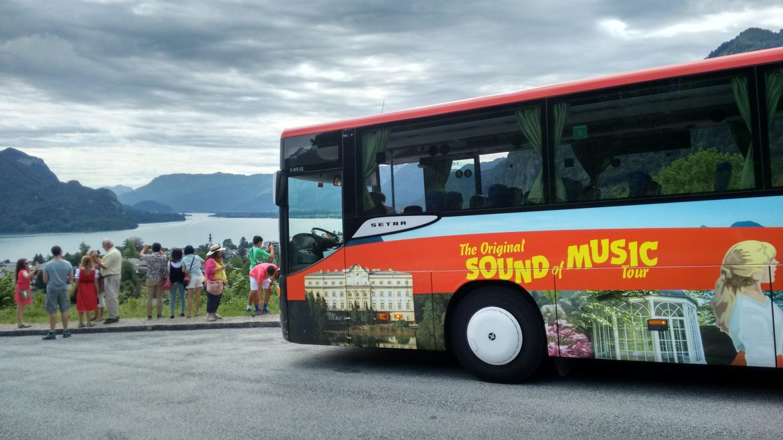 The original Sound of music tour bus in St. Gilgen