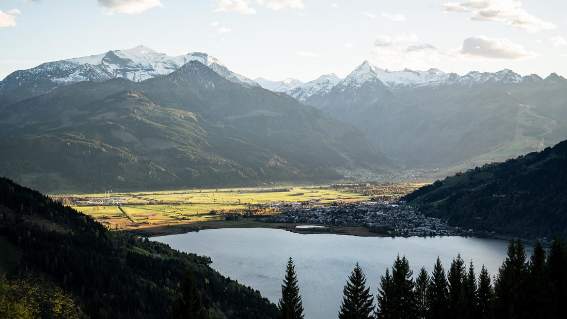 Panorama view in Zell am See-Kaprun