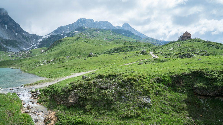 View to Franz Fischer Hut