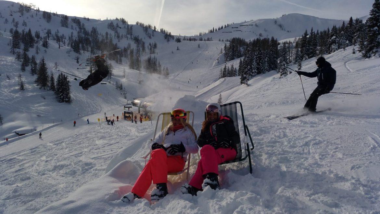 Break from skiing