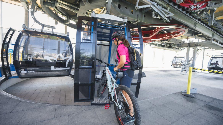 Kerékpár szállítási lehetőség a felvonókon, Biketransport