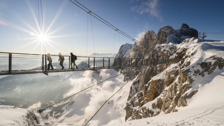 Függőhíd a Dachstein gleccserénél, Hängebrücke Dachstein
