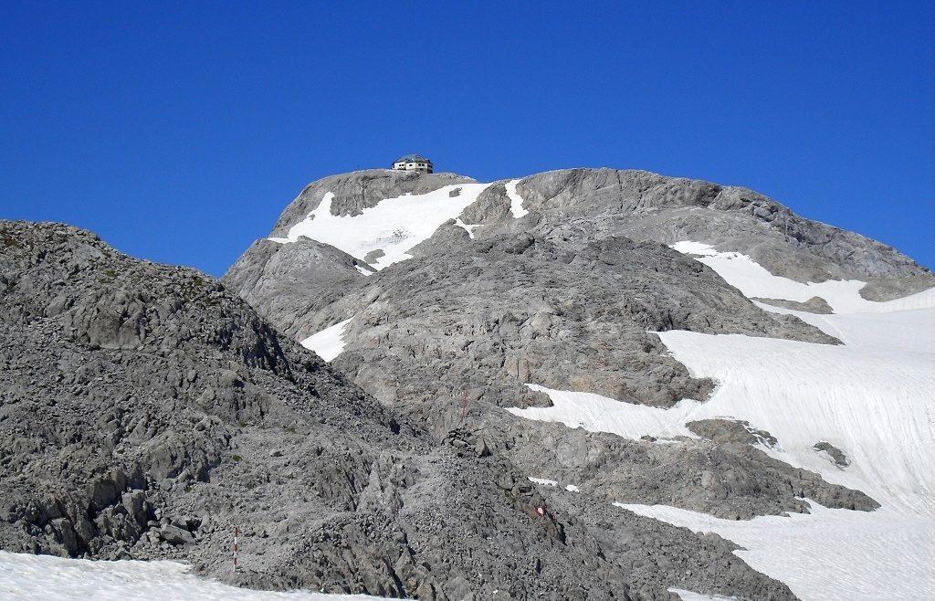 Könnyű gleccser túra a Matrashaushoz, Matrashaus von der Übergossenen Alm aus