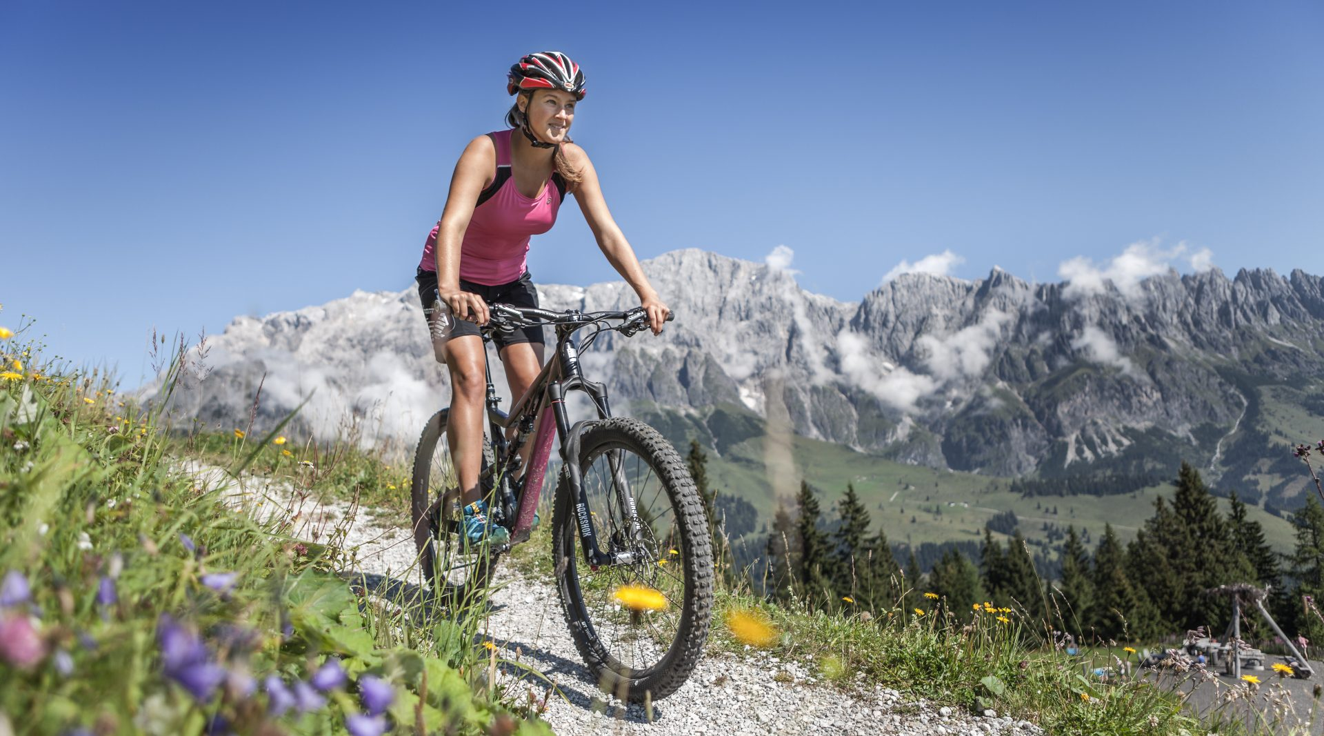 Mountain bike nella zona dell'Hochkönig