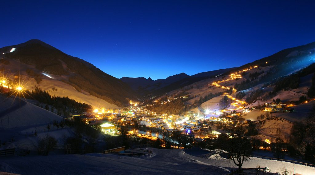 Notte invernale a Saalbach