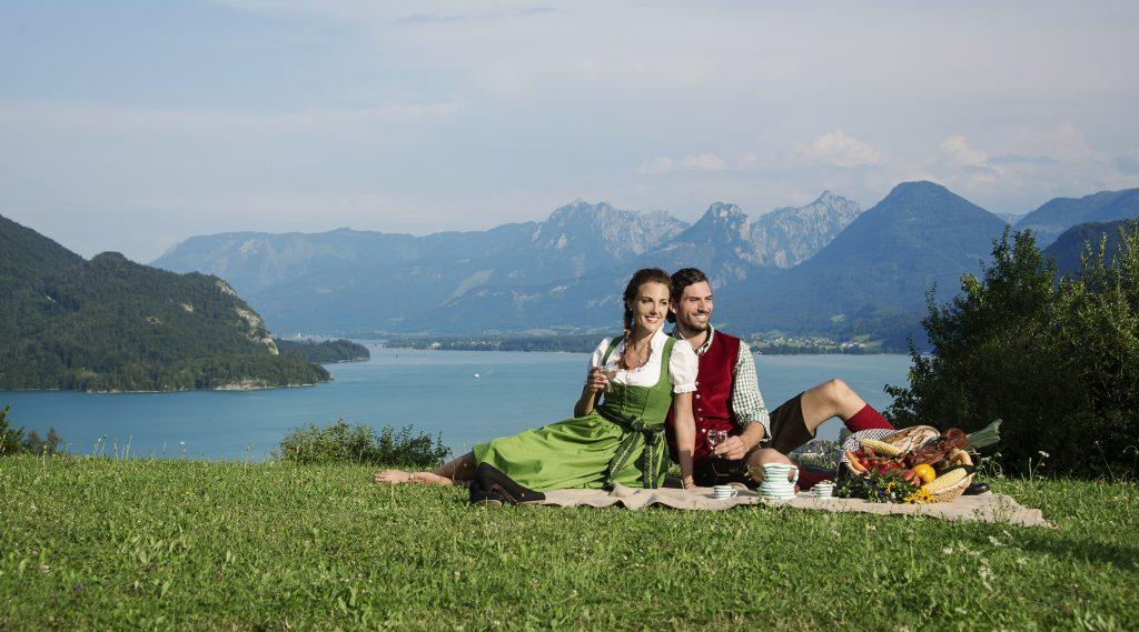 Pic nic sul lago nel Salzkammergut