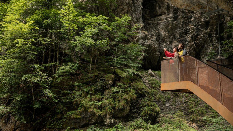 Escursione nella gola Liechtensteinklamm