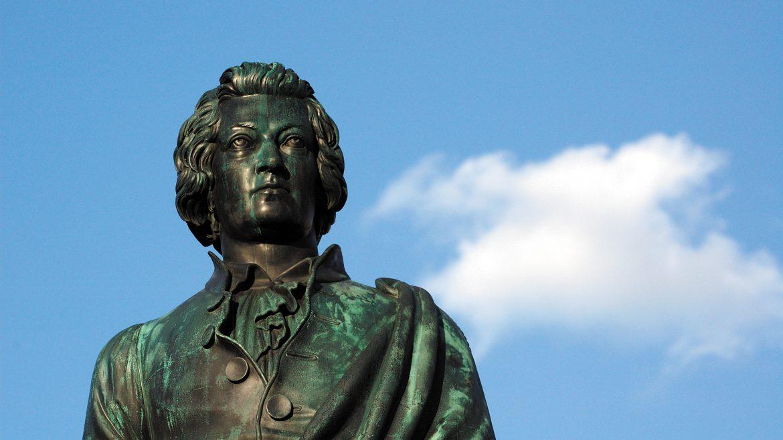 Beeld van Mozart