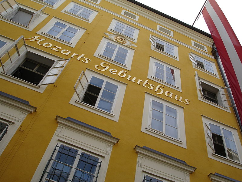 Geboortehuis Mozart in Salzburg, SalzburgerLand