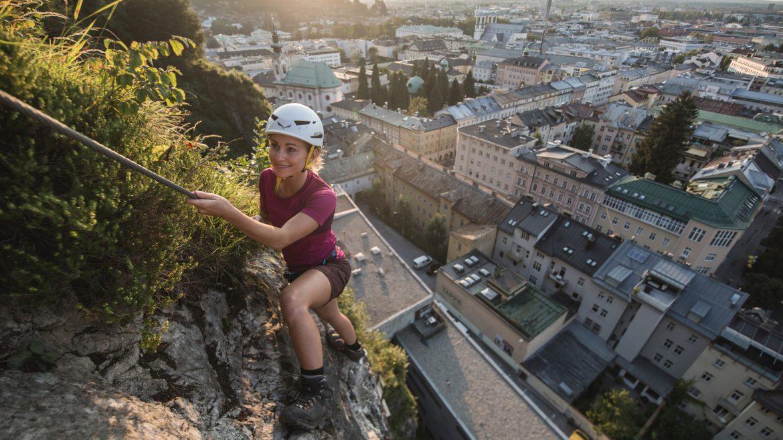 Klettersteig in de stad Salzburg