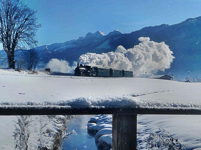 Stoomlocomotief, Pinzgauer Lokalbahn, trein, Pinzgau